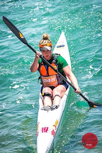 Roisín Cahill has won silver in the Under-23 surf ski race