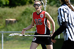 GER - Hannover, Germany, May 30: During the Women Lacrosse Playoffs 2015 match between DHC Hannover (black) and SC Frankfurt 1880 (red) on May 30, 2015 at Deutscher Hockey-Club Hannover e.V. in Hannover, Germany. Final score 23:3. (Photo by Dirk Markgraf / www.265-images.com) *** Local caption *** Hanna Kolass #16 of SC 1880 Frankfurt