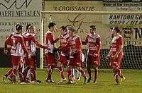 Torhout KM - FC Gullegem : FC Gullegem viert de 0-3<br /> foto VDB / BART VANDENBROUCKE