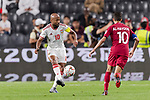 Ismaeil Matar Aljneibi of United Arab Emirates (L) in action during the AFC Asian Cup UAE 2019 Semi Finals match between Qatar (QAT) and United Arab Emirates (UAE) at Mohammed Bin Zaied Stadium  on 29 January 2019 in Abu Dhabi, United Arab Emirates. Photo by Marcio Rodrigo Machado / Power Sport Images