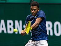 Rotterdam, The Netherlands, 28 Februari 2021, ABNAMRO World Tennis Tournament, Ahoy, First round match: Felix Auger-Aliassime (CAN).<br /> Photo: www.tennisimages.com/henkkoster