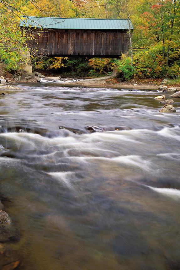 Jaynes Bridge spanning the North Branch of the Lamoille River, Waterville, Lamoille County, V