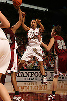 25 February 2006: Rosalyn Gold-Onwude during Stanford's 78-47 win over the Washington State Cougars at Maples Pavilion in Stanford, CA.