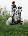 LEXINGTON, KY - APRIL 30: #8 Landmark's Monte Carlo and Lauren Kieffer compete in the Cross Country Test for the Rolex Kentucky 3-Day Event at the Kentucky Horse Park.  April 30, 2016 in Lexington, Kentucky. (Photo by Candice Chavez/Eclipse Sportswire/Getty Images)