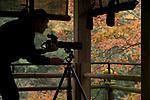 Photographer photographs fall colors, Kyoto, Honshu, Japan