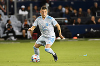 KANSAS CITY, KS - MAY 29: Remi Walter #54 Sporting KC with the ball during a game between Houston Dynamo and Sporting Kansas City at Children's Mercy Park on May 29, 2021 in Kansas City, Kansas.