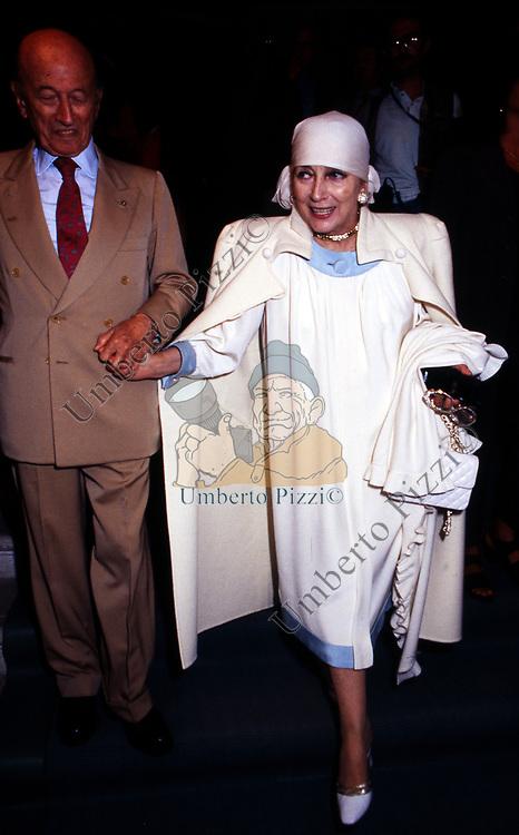 VALENTINA CORTESE CON CARLO E ANGELI<br /> AMFAR FOUNDATION CHARITY GALA PALAZZO VOLPI VENEZIA 1993