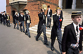 "The register is taken at the ""School Bill"" during the annual Speech Day at Harrow School."