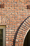 Architectural detail of a brick archway