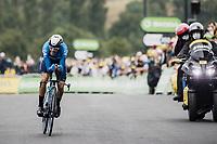 Enric Mas (ESP/Movistar)<br /> <br /> Stage 5 (ITT): Time Trial from Changé to Laval Espace Mayenne (27.2km)<br /> 108th Tour de France 2021 (2.UWT)<br /> <br /> ©kramon