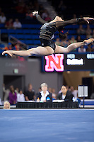 LOS ANGELES, CA - April 19, 2013:  Stanford's Ivana Hong competes on floor exercise during the NCAA Championships at UCLA.