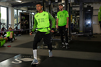 Rhian Brewster of Swansea City in the gym during the Swansea City Training at The Fairwood Training Ground in Swansea, Wales, UK.  Wednesday 08 January 2020