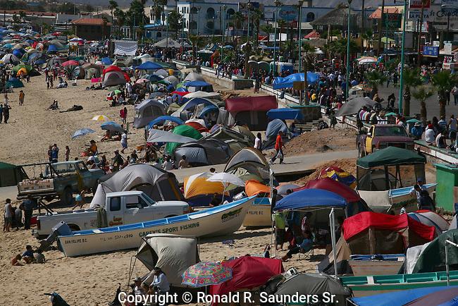 San Felipe crowds during Spring Break