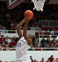 STANFORD, CA:  Nnemkadi Ogwumike during Stanford's 77-40 victory over Fresno State at Stanford, California on December 12, 2010.