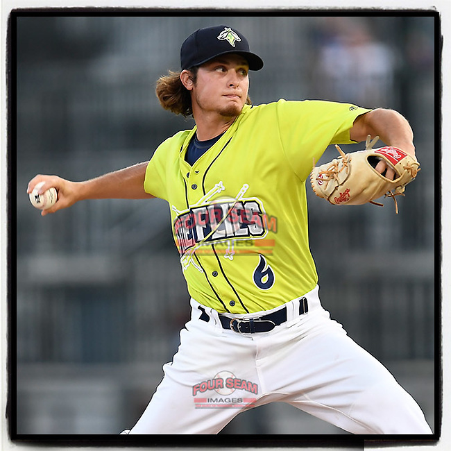 #OTD On This Day, August 20, 2017, Matt Blackham of the Columbia Fireflies pitched an inning in relief in a game against the Rome Braves at Spirit Communications Park in Columbia, South Carolina. Rome won, 11-6 in 16 innings. Blackham is on the Mets' 60-man player pool for 2020 and has been assigned to work at the team's alternate site. (Tom Priddy/Four Seam Images) #MiLB #OnThisDay #MissingBaseball #nobaseball #stayathome #minorleagues #minorleaguebaseball #Baseball #SallyLeague #AloneTogether