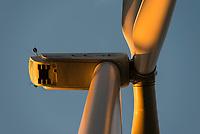 GERMANY, Hamburg, rotor blade of Nordex N117 wind turbine / DEUTSCHLAND, Hamburg, Curslack, Rotorblatt einer Nordex N117 Windkraftanlage des Windparks des CC4E Technologiezentrum der HAW