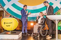 Rotterdam, Netherlands, 09 Februari, 2018, City Hall, Official Draw,   Anouncer Jan Kooijman and <br /> Photo: Tennisimages/Henk Koster