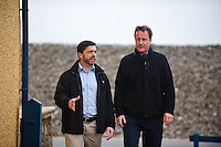 Wednesday 19 February 2014<br /> Pictured:<br /> Re: Prime Minister David Cameron Visits Flood victims at the Duke of Edinburgh public house in Newgale, Pembrokeshire, Wales