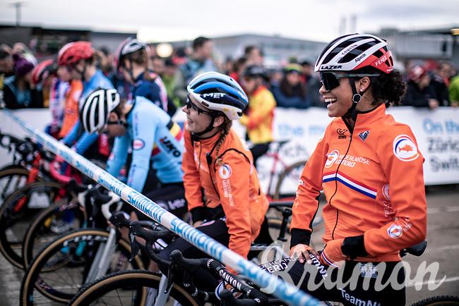 Ceylin Del Carmen Alvarado (NED)  pre race<br /> <br /> Women's Elite Race<br /> UCI 2020 Cyclocross World Championships<br /> Dübendorf / Switzerland<br /> <br /> ©kramon