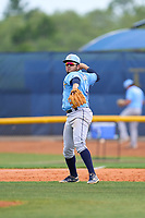 Tampa Bay Rays Jonathan Aranda (48) throwing during a Minor League Spring Training game against the Atlanta Braves on April 25, 2021 at Charlotte Sports Park in Port Charlotte, Fla.  (Mike Janes/Four Seam Images)