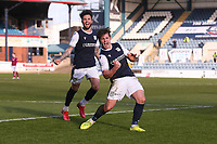 13th March 2021; Dens Park, Dundee, Scotland; Scottish Championship Football, Dundee FC versus Arbroath; Danny Mullen of Dundee celebrates after scoring for 1-0 in the 54th minute