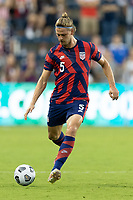 KANSAS CITY, KS - JULY 11: Walker Zimmerman #5 of the United States passes the ball during a game between Haiti and USMNT at Children's Mercy Park on July 11, 2021 in Kansas City, Kansas.
