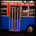 Naples, Florida.The Tiburon Resort is one of the Ritz-Carlton's newest golfing resorts in Napels, Florida's southwest coast, USA. The golf course met the environmental criteria set by the Audubon Society and is located about 15 minutes from Napels downtown and the Golf of Mexico. Here the trolley tram that runs along main street in downtown Napels..
