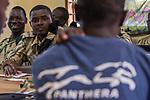 Anti-poaching scouts learning about SMART program, Sioma, western Zambia
