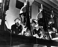 Students at the photographic School, NAS Pensacola, Fla.  Rec'd: 1/7/1944.    80-G-204952