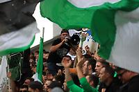 25th September 2021; Saint-Etienne Stade Geoffroy Guichard, France; AS Saint-Etienne versus OGC Nice; ASSE fans show their colours