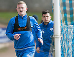 St Johnstone Training…04.04.17<br />Brian Easton pictured during training this morning ahead of tomorrow's game against Hearts<br />Picture by Graeme Hart.<br />Copyright Perthshire Picture Agency<br />Tel: 01738 623350  Mobile: 07990 594431