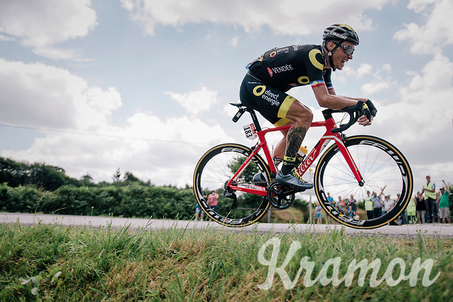 Sylvain Chavanel (FRA/Direct Energie) solo ahead<br /> <br /> Stage 5: Lorient > Quimper (203km)<br /> <br /> 105th Tour de France 2018<br /> ©kramon