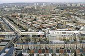 View across north-west London from Trellick Tower in North Kensington, showing the Harrow Road and Lydford Estate.