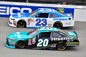NASCAR XFINITY Series<br /> Irish Hills 250<br /> Michigan International Speedway, Brooklyn, MI USA<br /> Saturday 17 June 2017<br /> Denny Hamlin, Hisense Toyota Camry and Spencer Gallagher, Allegiant Airlines Chevrolet Camaro<br /> World Copyright: Nigel Kinrade<br /> LAT Images