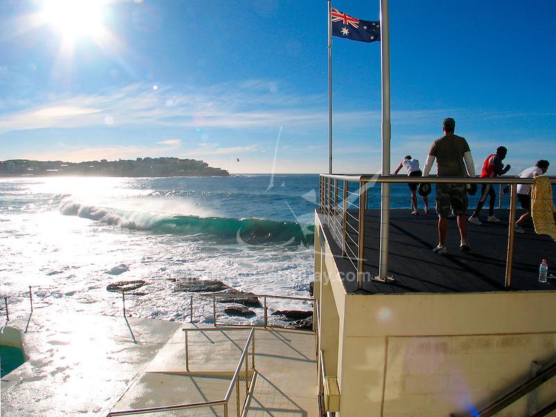Fitness center at the Bondi Icebergs swimming club, Bondi Beach, Sydney in Australia.