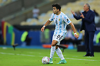 10th July 2021, Estádio do Maracanã, Rio de Janeiro, Brazil. Copa America tournament final, Argentina versus Brazil;  Marcos Acuña of Argentina