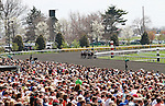 April 12, 2014:  Keeneland's Bluegrass day stakes card became the 2nd largest crowd in history of the track with attendance 39,722.  Candice Chavez/ESW/CSM