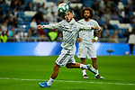 Eden Hazard of Real Madrid warm up before La Liga match between Real Madrid and CD Leganes at Santiago Bernabeu Stadium in Madrid, Spain. October 30, 2019. (ALTERPHOTOS/A. Perez Meca)
