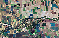 aerial photo map of farm fields around in the Salinas Valley, Monterey county, California