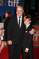 ANUPAM KHER AND MAX JENKINS - RED CARPET OF THE FILM 'THE HEADHUNTER'S CALLING' - 41ST TORONTO INTERNATIONAL FILM FESTIVAL 2016 . 15/09/2016. # FESTIVAL INTERNATIONAL DU FILM DE TORONTO 2016
