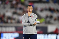 JACKSONVILLE, FL - NOVEMBER 10: USWNT Manager Vlatko Andonovski watches over his U.S. Women as they warm up during a game between Costa Rica and USWNT at TIAA Bank Field on November 10, 2019 in Jacksonville, Florida.