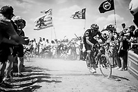 Damien Gaudin (FRA/Direct Energie) on pavé sector #4<br /> <br /> Stage 9: Arras Citadelle > Roubaix (154km)<br /> <br /> 105th Tour de France 2018<br /> ©kramon
