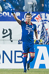 Suwon Forward Johnathan Da Silva Vilela celebrating his score during the AFC Champions League 2017 Group G match Between Suwon Samsung Bluewings (KOR) vs Guangzhou Evergrande FC (CHN) at the Suwon World Cup Stadium on 01 March 2017 in Suwon, South Korea. Photo by Victor Fraile / Power Sport Images