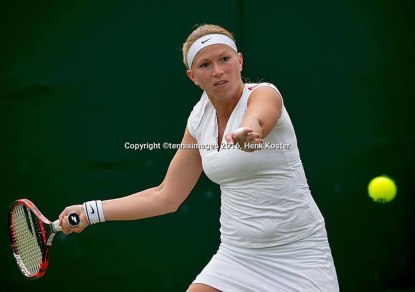 London, England, 4th July, 2016, Tennis, Wimbledon, Michaella Krajicek (NED)<br /> Photo: Henk Koster/tennisimages.com