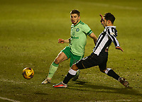 10th February 2021; St Mirren Park, Paisley, Renfrewshire, Scotland; Scottish Premiership Football, St Mirren versus Celtic; Jonjoe Kenny of Celtic clears ahead of Ilkay Durmis of St Mirren