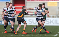 DOWN HIGH SCHOOL vs WALLACE HIGH SCHOOL Subsidiary Shield Final | Monday 124th March 2016<br /> <br /> Gary Dillon<br /> Match action during the Subsidiary Shield Final between Down High School and Wallace High School at Kingspan Stadium, Ravenhill Park, Belfast, Northern Ireland. Photo credit: John Dickson / DICKSONDIGITAL