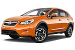 Stock pictures of low aggressive front three quarter view of 2014 Subaru XV-Crosstrek Premium 5 Door SUV Low Aggressive