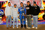 Nov 06, 2009; 12:45:36 AM; Concord, NC, USA; The Topless Showdown presented by Hungry-Man features the cars and stars of the World of Outlaws Late Model Series competing at The Dirt Track @ Lowe's Motor Speedway.  Mandatory Credit: (thesportswire.net)