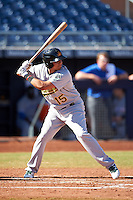 Mesa Solar Sox Yairo Munoz (15), of the Oakland Athletics organization, during a game against the Peoria Javelinas on October 19, 2016 at Peoria Stadium in Peoria, Arizona.  Peoria defeated Mesa 2-1.  (Mike Janes/Four Seam Images)