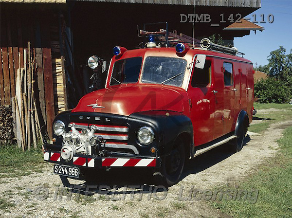Gerhard, MASCULIN, antique cars, oldtimers, photos, Opel Feuerwehrauto T 330c.Bj.1959(DTMB142-110,#M#) Feuerwehrautos, coches de los bomberos
